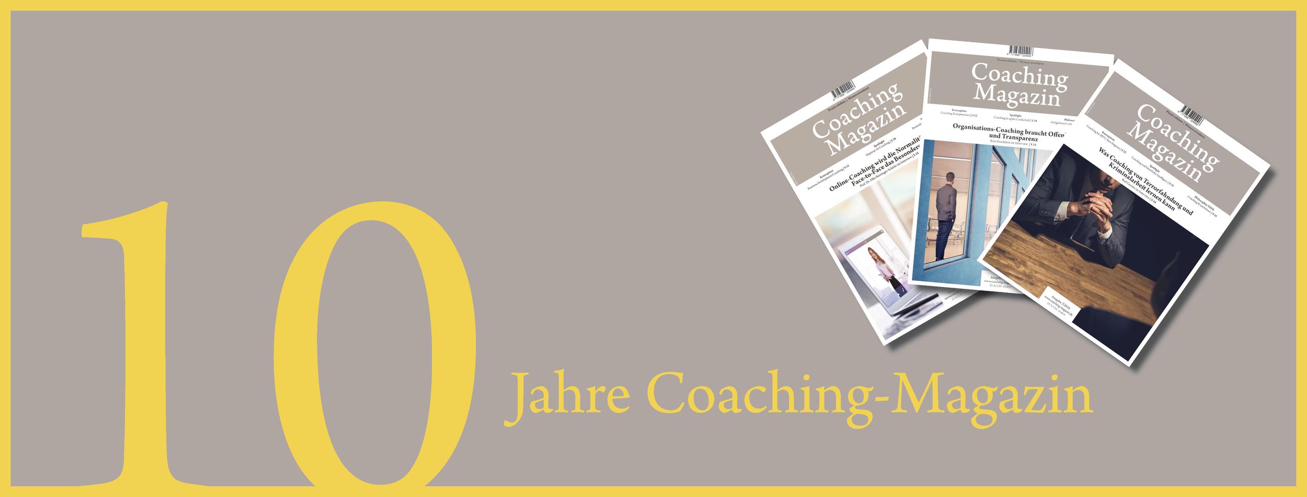 Zehn Jahre Coaching-Magazin