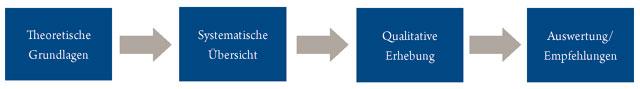 Abbildung Schritte im Forschungsprozess